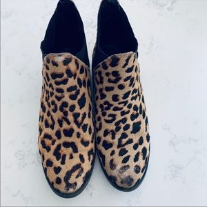 Flat also leopard Booties